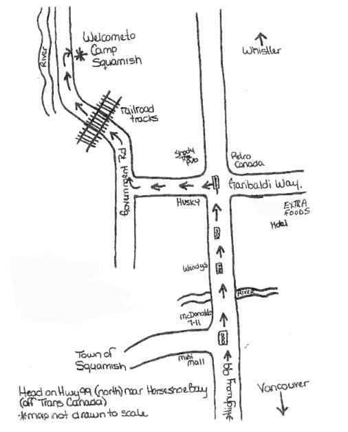 Camp Squamish directions
