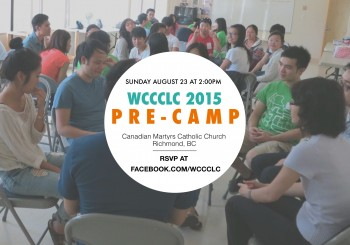 WCCCLC 2015 Pre-Camp – Sunday, August 23 at 2pm